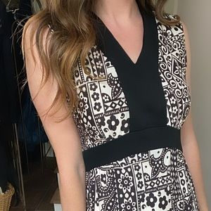 Vintage black and white patchwork maxi